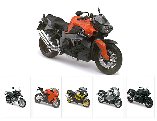 DMW 600901OR  BMW K1300R Orange Motorcycle Model 1/12 Automaxx