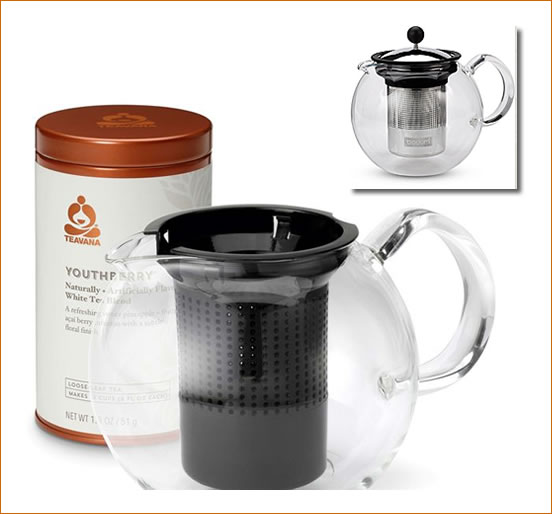 starbucks Assam Glass Teapot & Tea Set