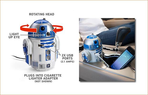 シンクギーク スターウォーズ R2-D2 USB カーチャージャー