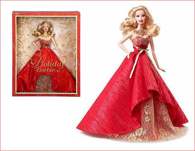 ウォルマート バービー no552661185 2014 holiday barbie doll 16 45ドル