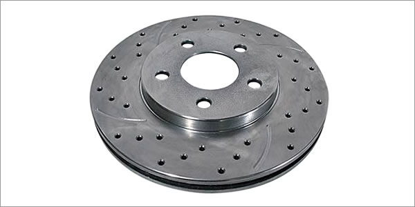 Summit Racing® Extreme Performance Cross-Drilled and Slotted Brake Rotors SUM-BR-66057L