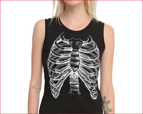 RIB CAGE X-RAY GIRLS MUSCLE TOP