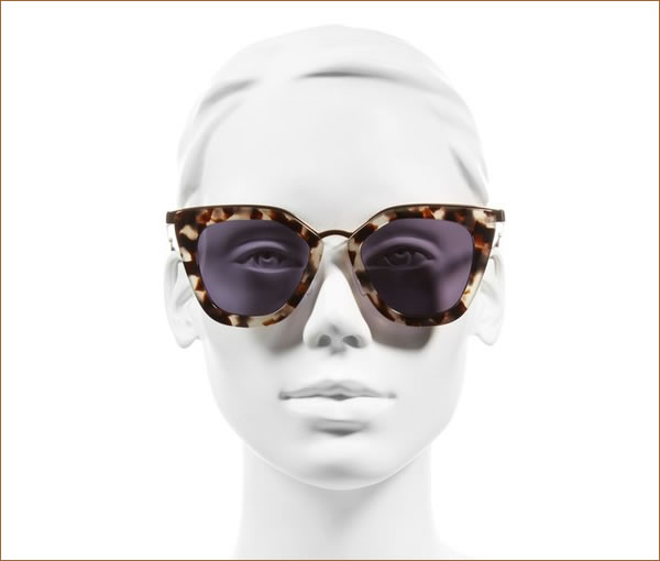 Prada 52mm Layered Frame Sunglasses