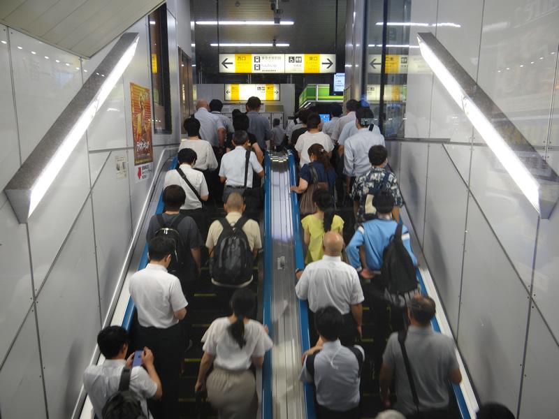 大井町駅にて「こんなだったコロナ前の日常」