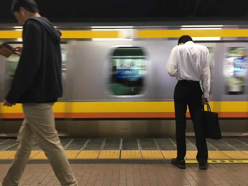 鹿島駅にて「こんなだったコロナ前の日常」